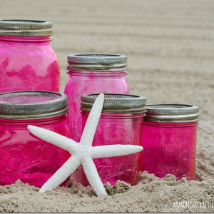 pink-mason-jars-vintage-look-with-mod-podge