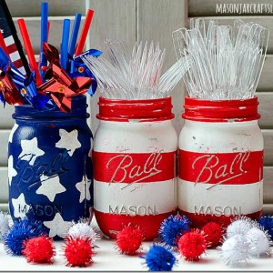 Stars & Stripes Mason Jars