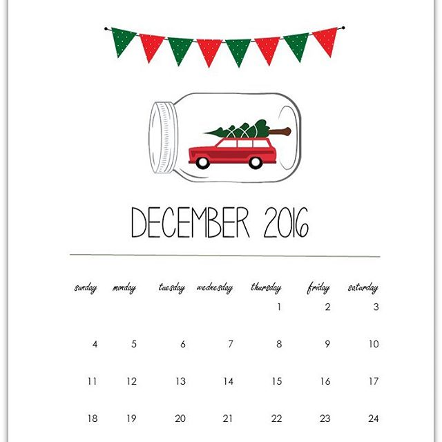 Free calendar page for December Follow link in profile tohellip