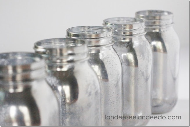 DIY Mercury Glass Mason Jars 2
