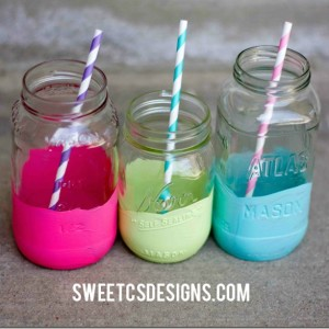 Color Dipped Jars