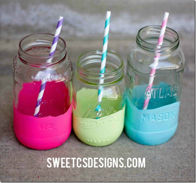 color-dipped-jars-turned-party-cups-save-your-old-jars-and-create-a-fun-colorful-display-at-your-next-party