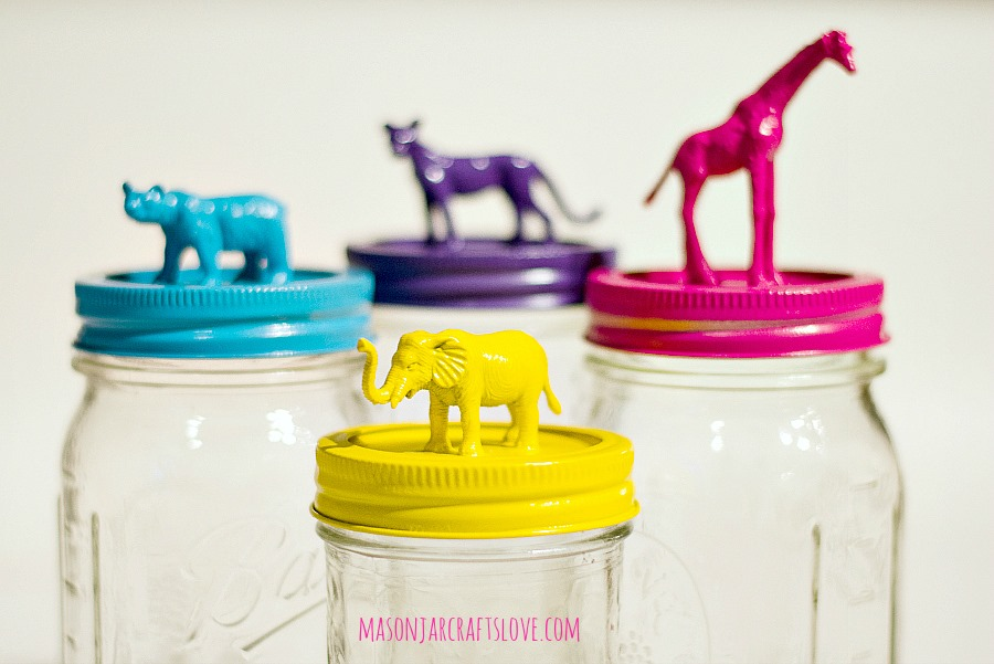 Animal topped mason jars mason jar crafts love for Cool money jars