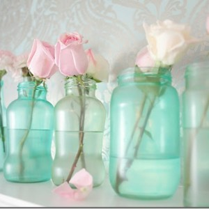 Vintage Blue Mason Jar DIY