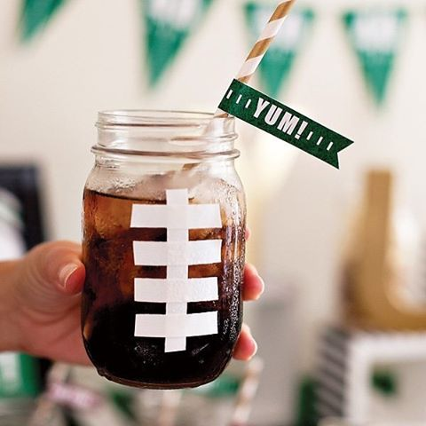 Football masonjar mug from hostesswthemostess link in profile masonjarcrafts gameday