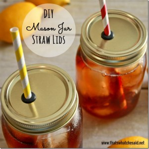 how to make a mason jar straw lid