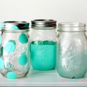 Ball Mason Jars Painted