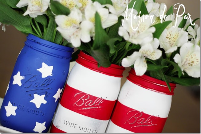 red-white-blue-painted-mason-jar