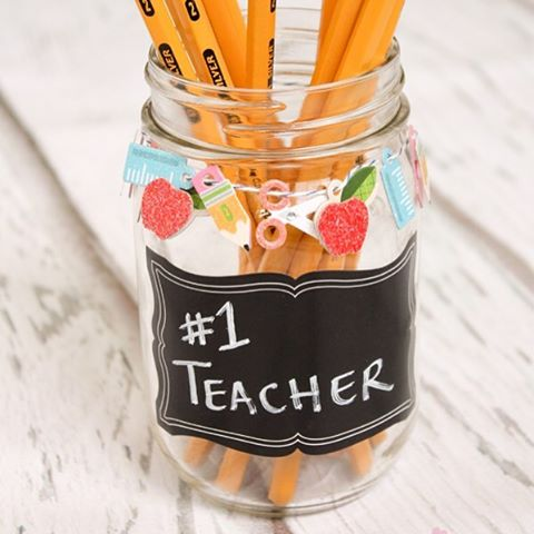 Cute and easy backtoschool teachergifts made with scrap booking supplieshellip