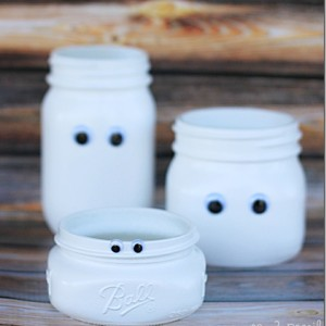 Mason Jar Ghost Craft
