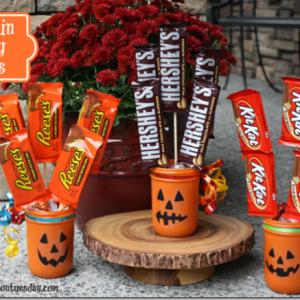 pumpkin-painted-mason-jars