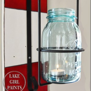 wall sconce mason jar