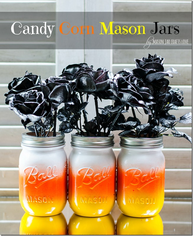 Candy Corn Mason Jars Mason Jar Crafts Love