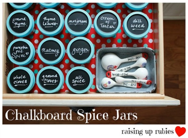 spice organization with mason jars