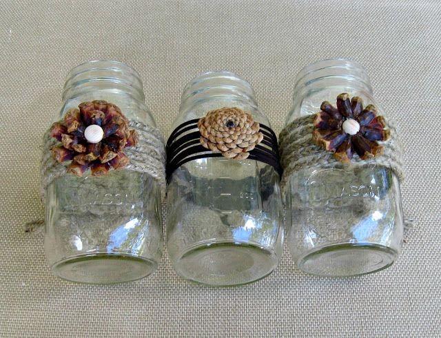 Fall mason jar vases mason jar crafts love for Mason jar crafts love