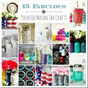 15+ Painted Mason Jar Crafts