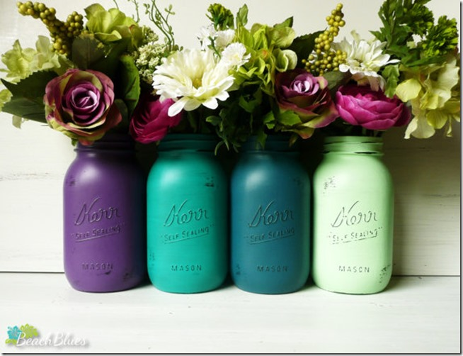 mason jar craft painted distressed