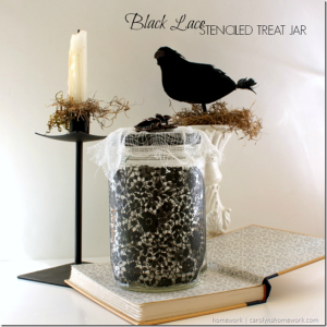 Lace Stenciled Jars
