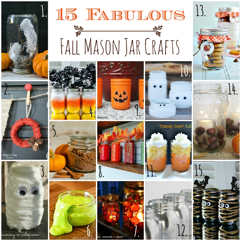Fall Crafts In Jars Ideas Mason Jar Crafts Love