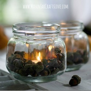 fall acorn votive