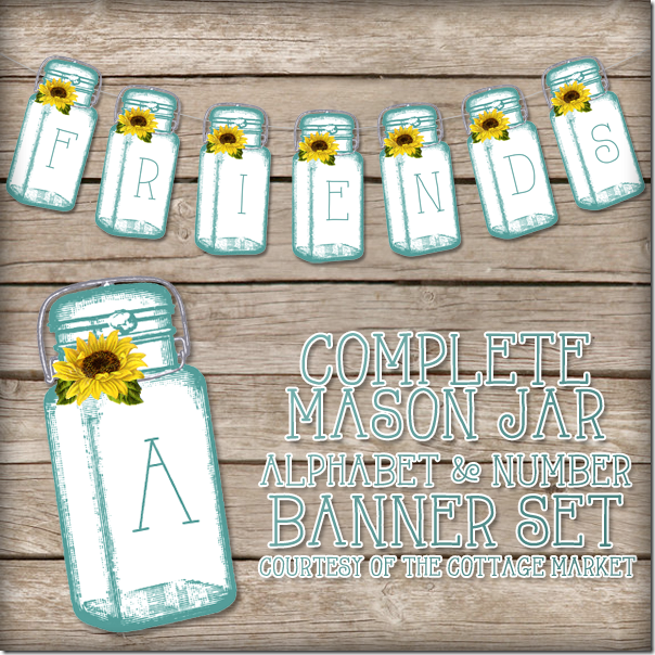 The Cottage Market - Mason Jar Banner - Cover Image