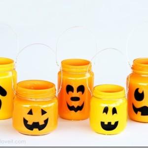 jack o lantern pumpkin mason jars