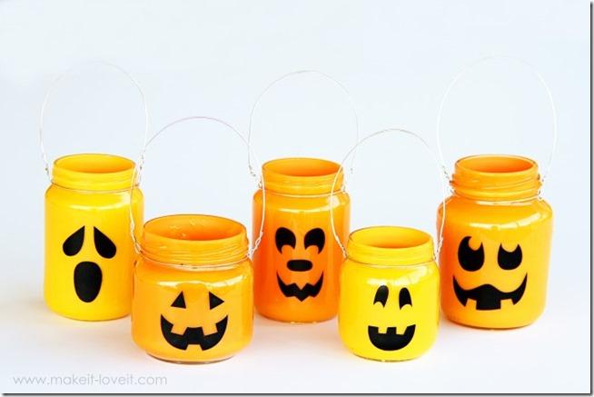 jack o' lantern mason jars