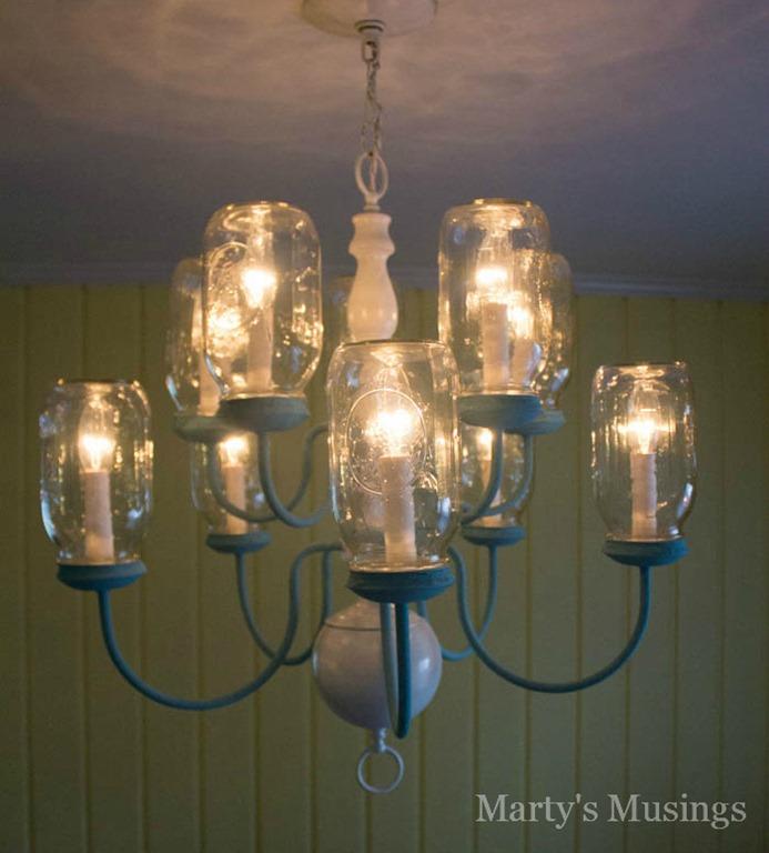 Mason jar chandelier mason jar crafts love mason jar chandelier mozeypictures Image collections