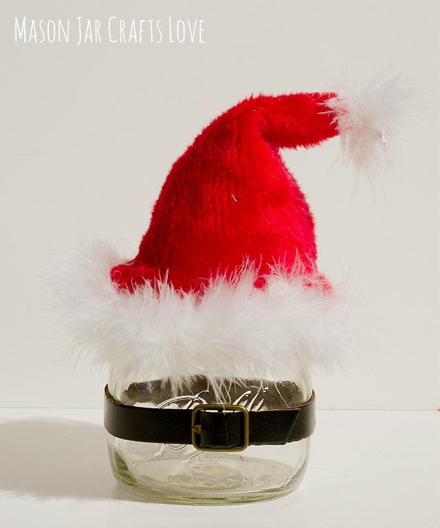 babbo natale in vasetto di vetro, abbellimenti  natale, vasetto di vetro,    regali fatti a mano, regali natale