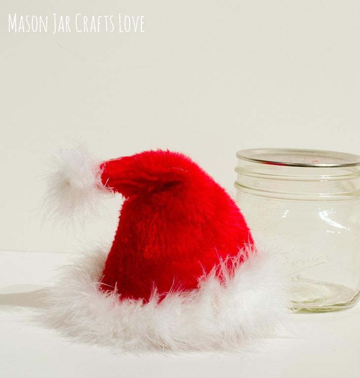 Santa hat mason jar mason jar crafts love for Mason jar crafts love