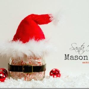 Santa Hat Mason Jar
