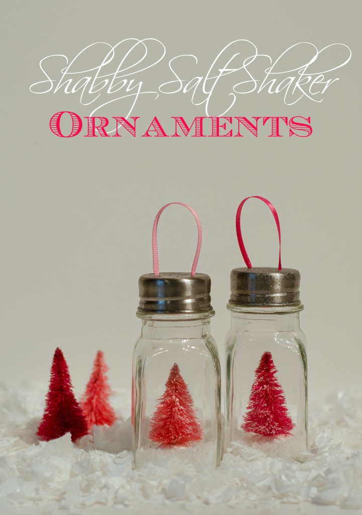 Salt Shaker Ornaments - Mason Jar Crafts Love