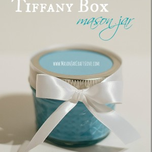 Tiffany blue box mason jar