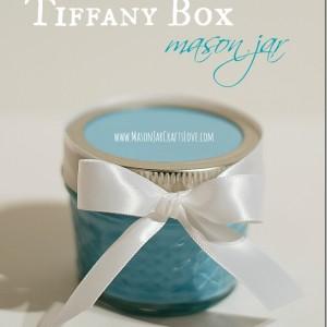 Tiffany blue box mason jar