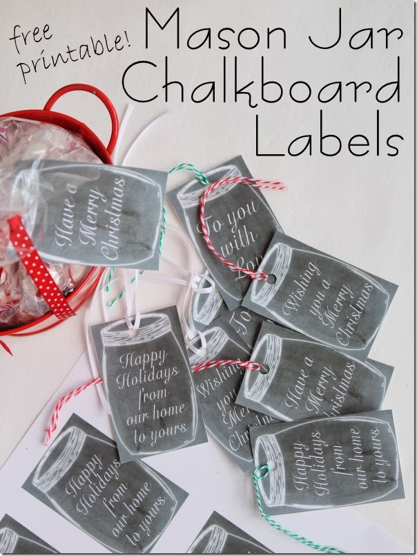 free printable mason jar chalkboard labels