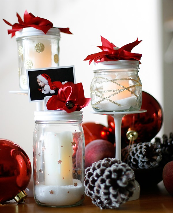 mason jar crafts for christmas - Christmas Jar Decorations