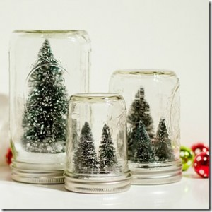 Bottle Brush Tree Snow Globes