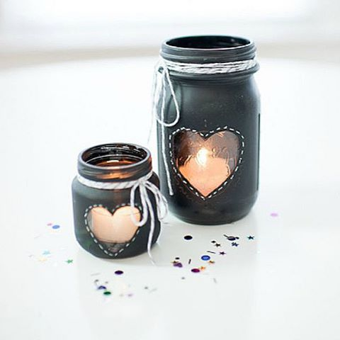 this heart masonjar votive made by heartlovealways was a