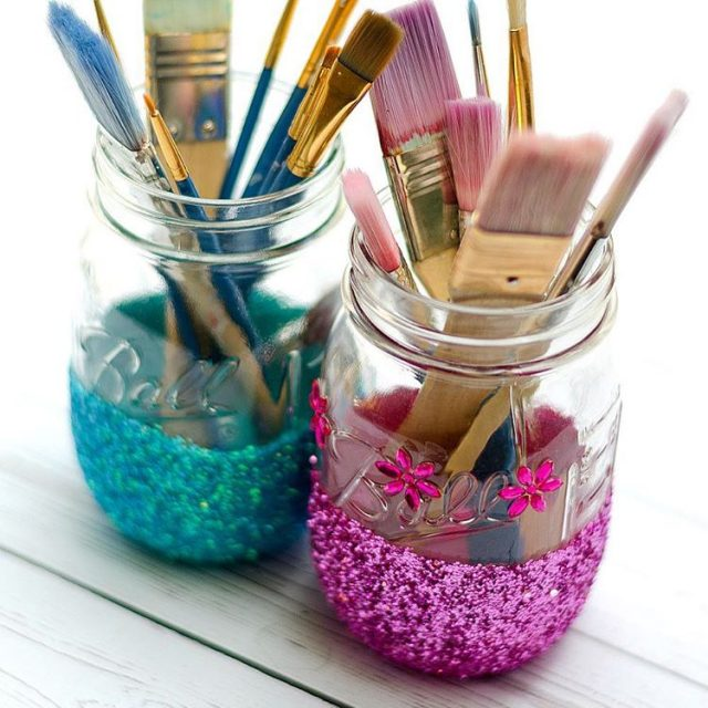 Glitter mason jars link in profile masonjarcrafts masonjar