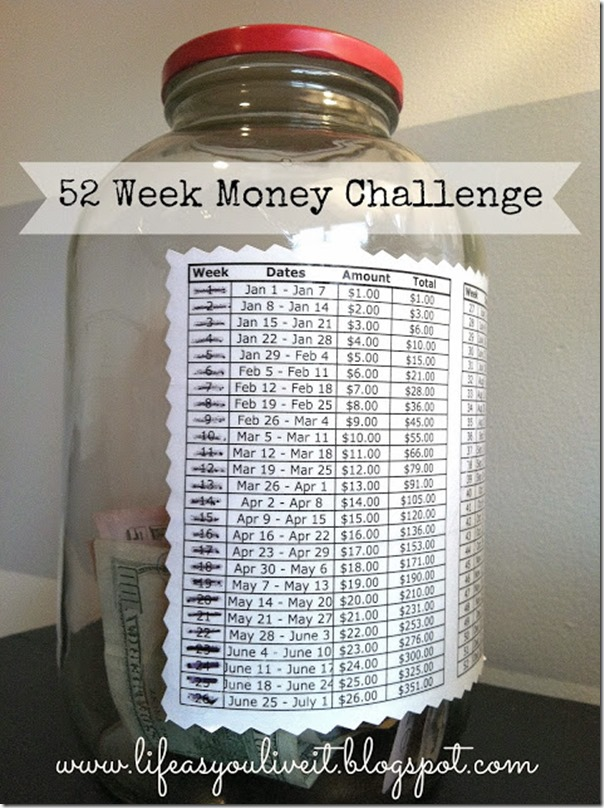 mason jar money challenge mason jar crafts love