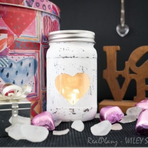 Heart Mason Jar Votive