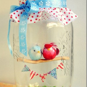 Love Birds in a Jar