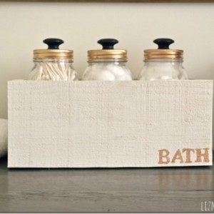 Bath Storage with Mason Jars