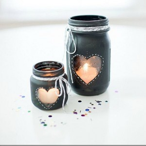 Chalkboard Paint Votives