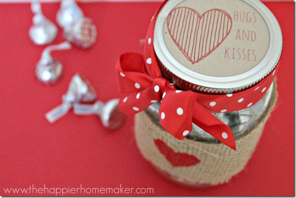 Valentine S Kisses Jar Mason Jar Crafts Love