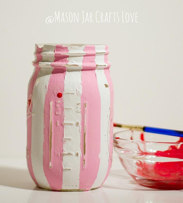 Valentine Heart Jars Mason Jar Crafts Love