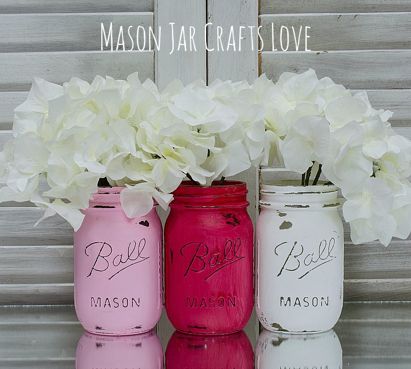 Valentine S Day Mason Jars Mason Jar Crafts Love