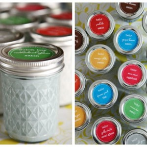 Mason Jar Paint Storage