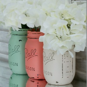 Spring Wedding Jars