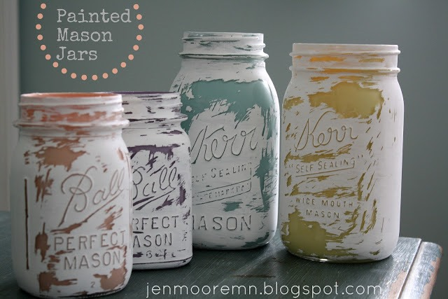 inside out painted jars mason jar crafts love